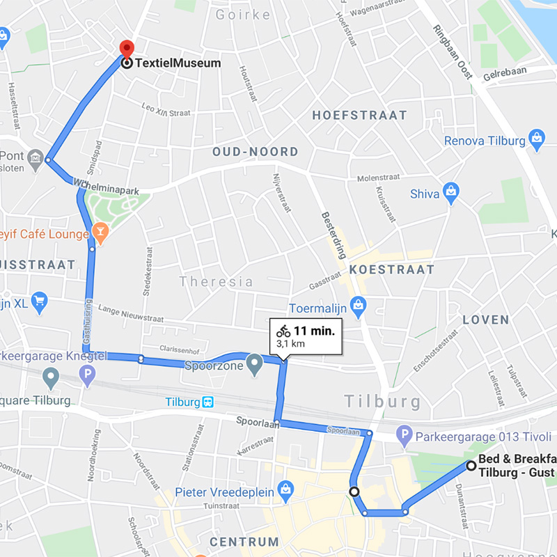 B&B-Tilburg-11 minutes-bike-ride-to Textielmuseum