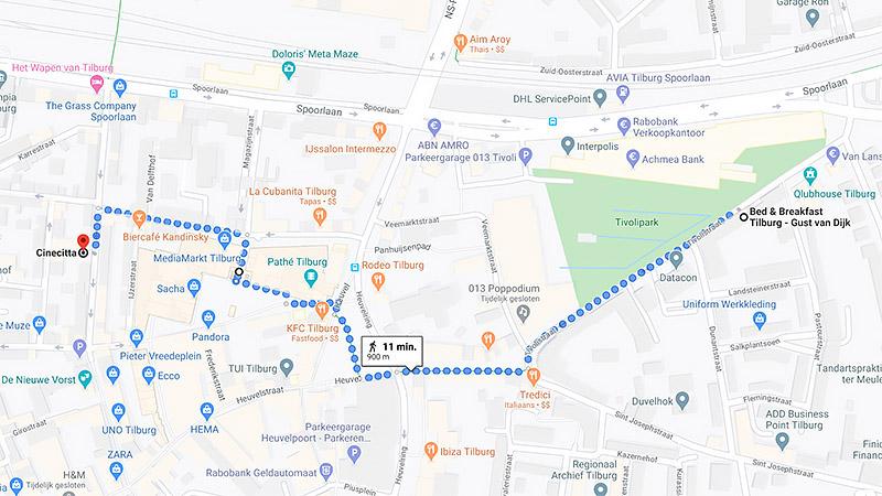 B&B-Tilburg at 10 minute walk to Cinecitta