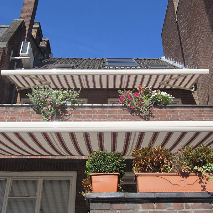 B&B-Tilburg, Garden side front with balconies and sunshades