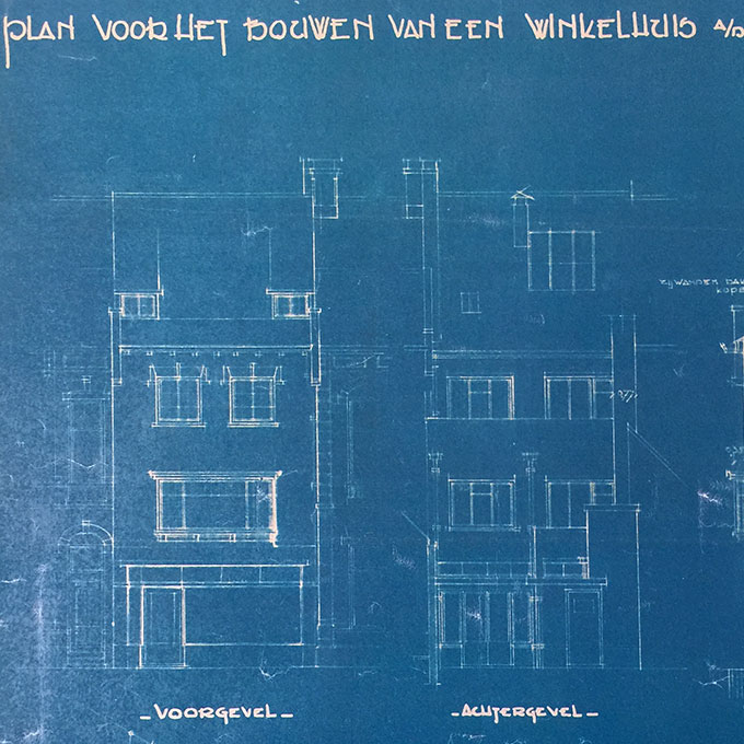 B&B-Tilburg Original drawing by the Architect Frans Ruts