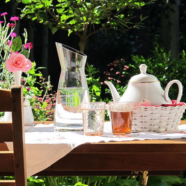 B&B-Tilburg Ontvangst met een kopje thee op het terras