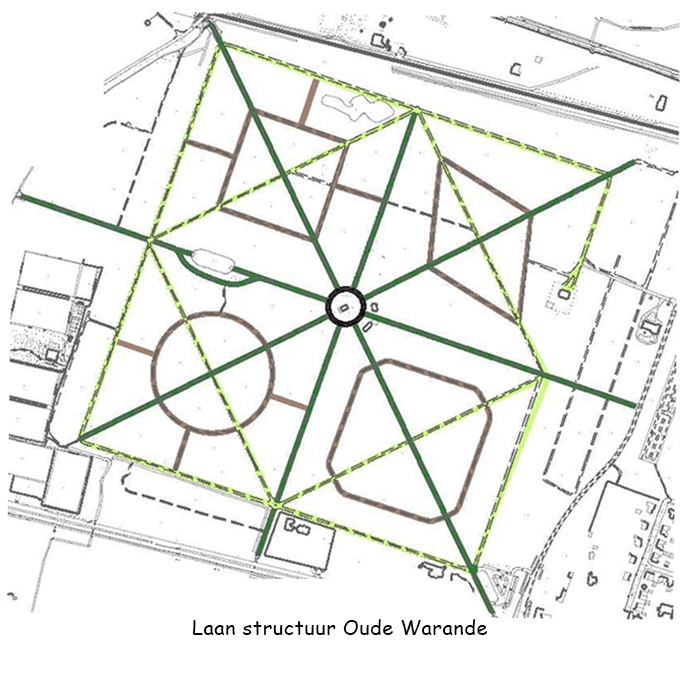 B&B-Tilburg map of the lanes in park Oude Warande